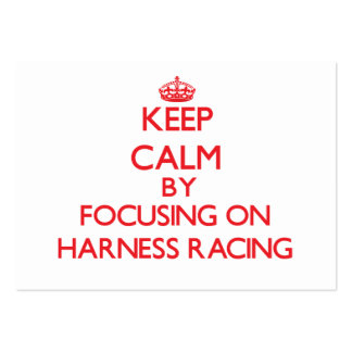 Keep calm by focusing on on Harness Racing Business Card Templates