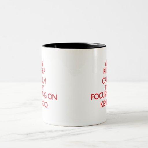 Keep calm by focusing on on Kendo Mug