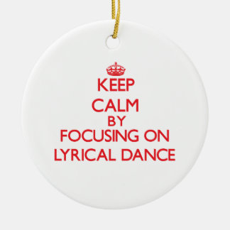 Keep calm by focusing on on Lyrical Dance Double-Sided Ceramic Round Christmas Ornament