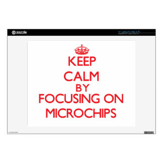"""Keep calm by focusing on on Microchips 14"""" Laptop Skin"""