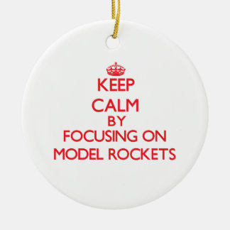 Keep calm by focusing on on Model Rockets Ornaments