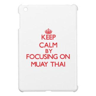 Keep calm by focusing on on Muay Thai iPad Mini Covers