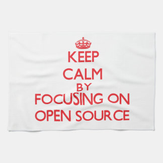 Keep calm by focusing on on Open Source Kitchen Towel