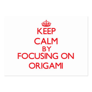 Keep calm by focusing on on Origami Business Card Template
