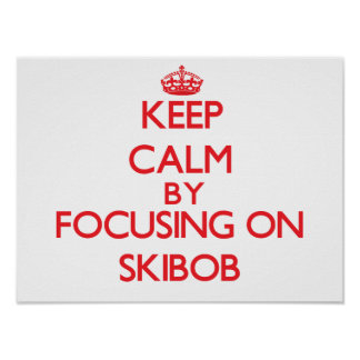 Keep calm by focusing on on Skibob Poster
