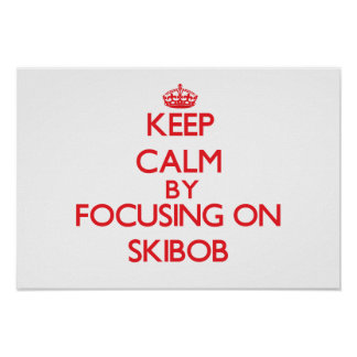 Keep calm by focusing on on Skibob Posters