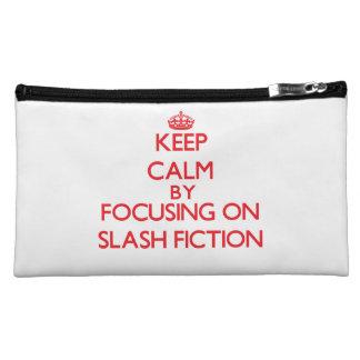 Keep calm by focusing on on Slash Fiction Makeup Bag