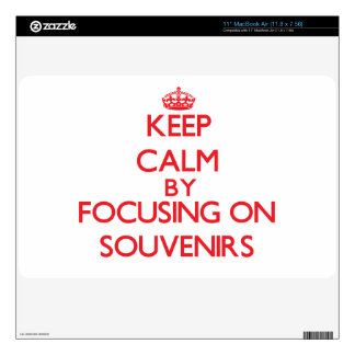 Keep calm by focusing on on Souvenirs Decals For The MacBook