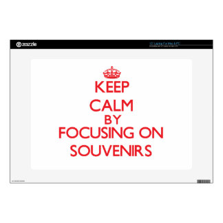 """Keep calm by focusing on on Souvenirs Decal For 15"""" Laptop"""