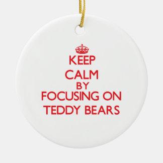 Keep calm by focusing on on Teddy Bears Christmas Tree Ornaments