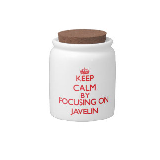 Keep calm by focusing on on The Javelin Candy Dish