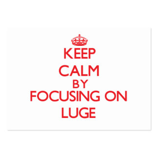 Keep calm by focusing on on The Luge Business Cards