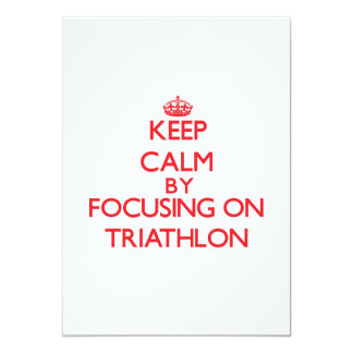 Keep calm by focusing on on Triathlon Personalized Announcements