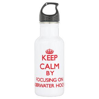 Keep calm by focusing on on Underwater Hockey 18oz Water Bottle