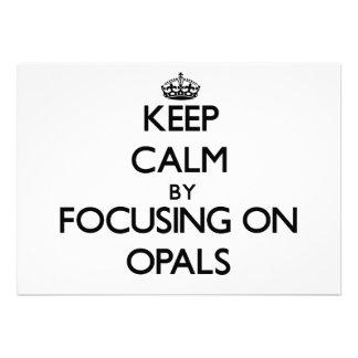 Keep Calm by focusing on Opals Custom Invitation