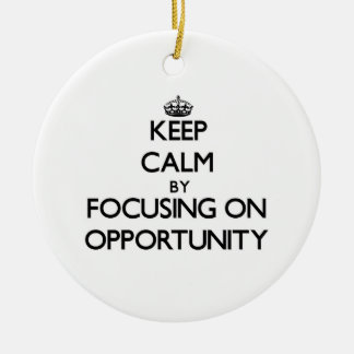 Keep Calm by focusing on Opportunity Christmas Tree Ornaments