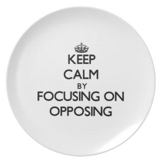 Keep Calm by focusing on Opposing Party Plates