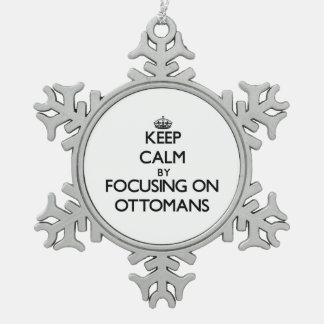 Keep Calm by focusing on Ottomans Snowflake Pewter Christmas Ornament