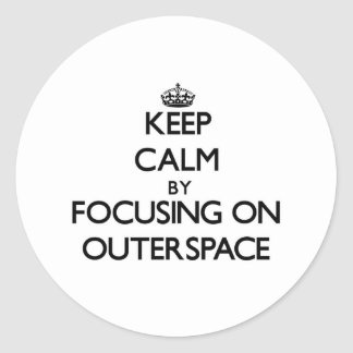 Keep Calm by focusing on Outerspace Sticker