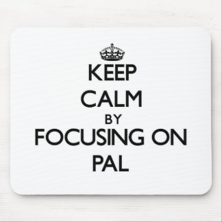 Keep Calm by focusing on Pal Mouse Pad