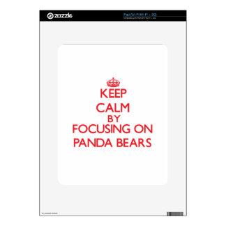 Keep calm by focusing on Panda Bears Skin For iPad