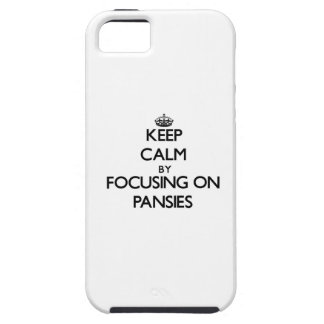 Keep Calm by focusing on Pansies Cover For iPhone 5/5S