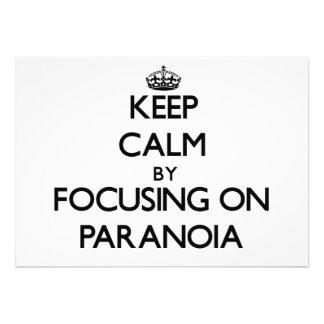 Keep Calm by focusing on Paranoia Custom Invitation