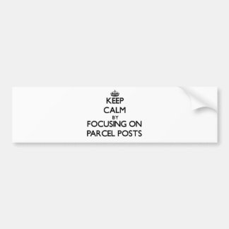Keep Calm by focusing on Parcel Posts Car Bumper Sticker