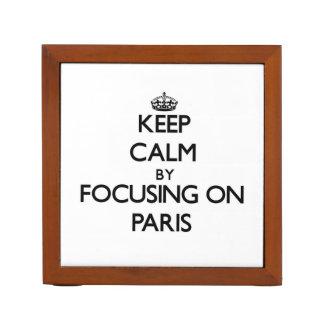 Keep Calm by focusing on Paris Pencil/Pen Holder