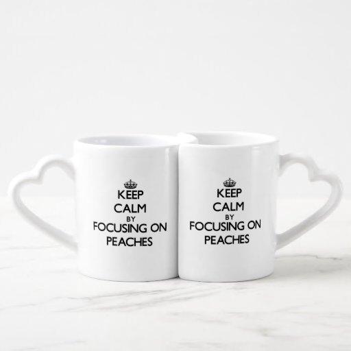 Keep Calm by focusing on Peaches Lovers Mugs