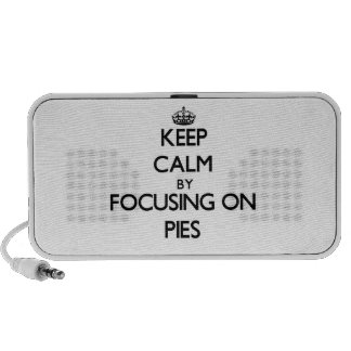 Keep Calm by focusing on Pies iPod Speakers
