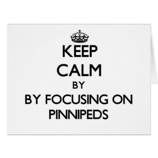 Keep calm by focusing on Pinnipeds Cards