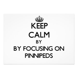 Keep calm by focusing on Pinnipeds Personalized Invites