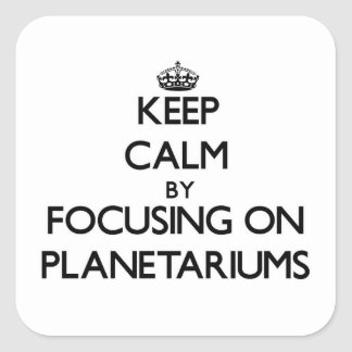 Keep Calm by focusing on Planetariums Square Stickers
