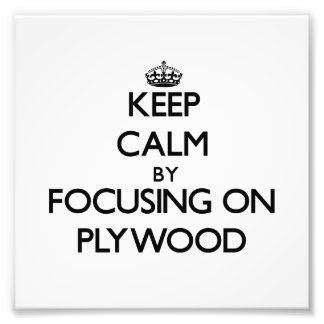 Keep Calm by focusing on Plywood Art Photo