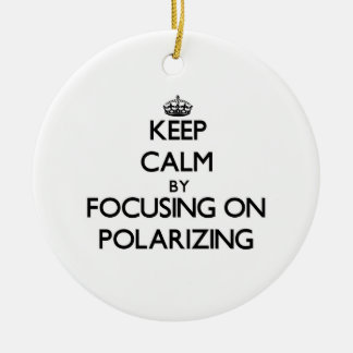 Keep Calm by focusing on Polarizing Christmas Ornament
