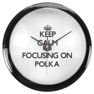 Keep Calm by focusing on Polka Aquarium Clocks