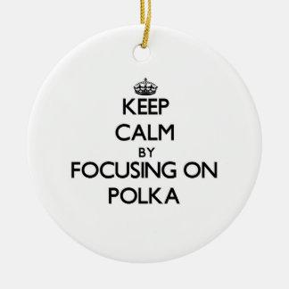 Keep Calm by focusing on Polka Christmas Tree Ornament