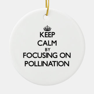 Keep Calm by focusing on Pollination Ornament