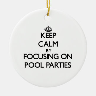 Keep Calm by focusing on Pool Parties Christmas Ornaments