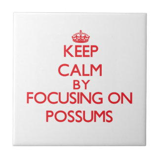 Keep calm by focusing on Possums Tile