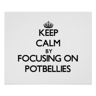 Keep Calm by focusing on Potbellies Print