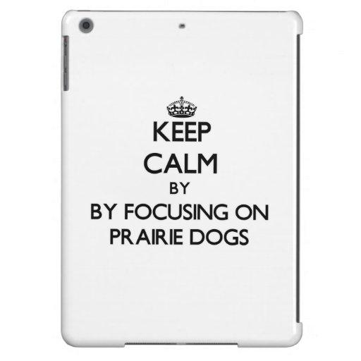 Keep calm by focusing on Prairie Dogs iPad Air Cover