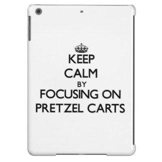 Keep Calm by focusing on Pretzel Carts iPad Air Cases
