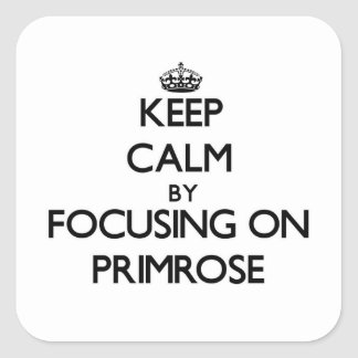Keep Calm by focusing on Primrose Stickers