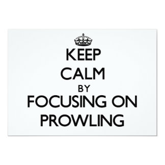 Keep Calm by focusing on Prowling Personalized Invitations