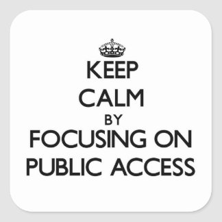 Keep Calm by focusing on Public Access Square Sticker