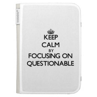 Keep Calm by focusing on Questionable Kindle Keyboard Covers