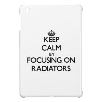 Keep Calm by focusing on Radiators iPad Mini Covers