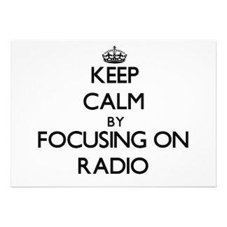 Keep Calm by focusing on Radio Custom Invitation